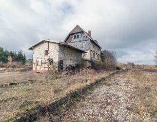 Bahnhof des ehemaligen Kalibergbauzentrums