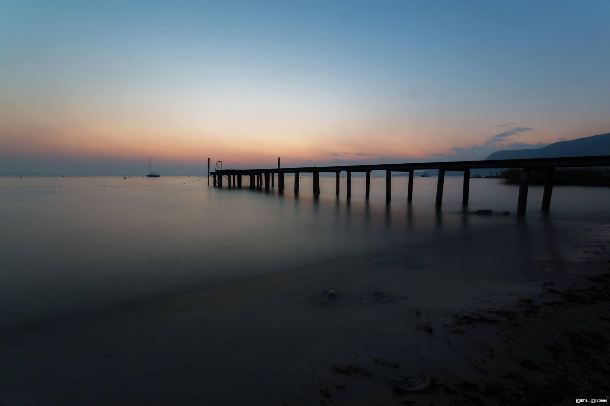 Sonnenuntergang in Bardolino am Gardasee