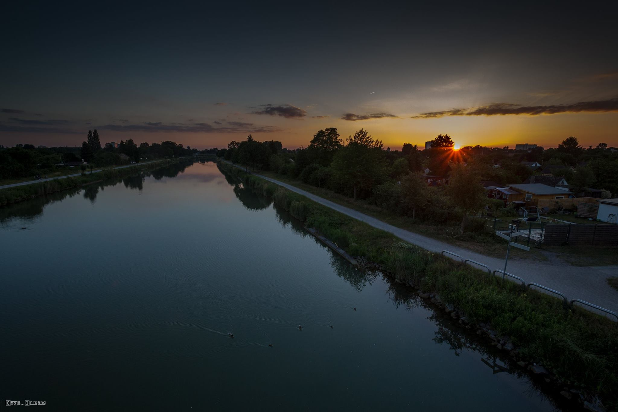 Sonnenuntergang am Mittellandkanal Hannover