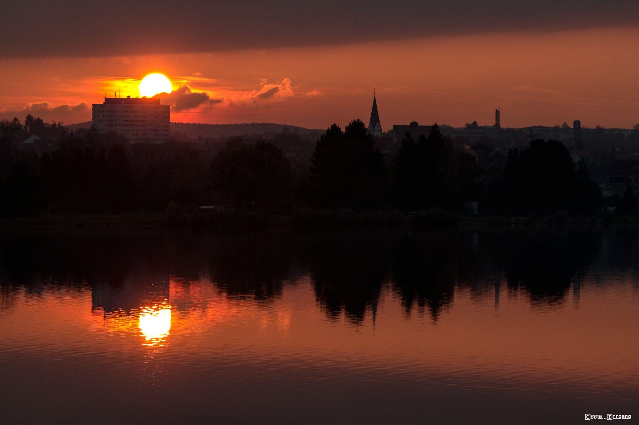 Sonnenuntergang am Werratalsee