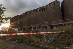 Spanischer Pavillon nach dem Brand