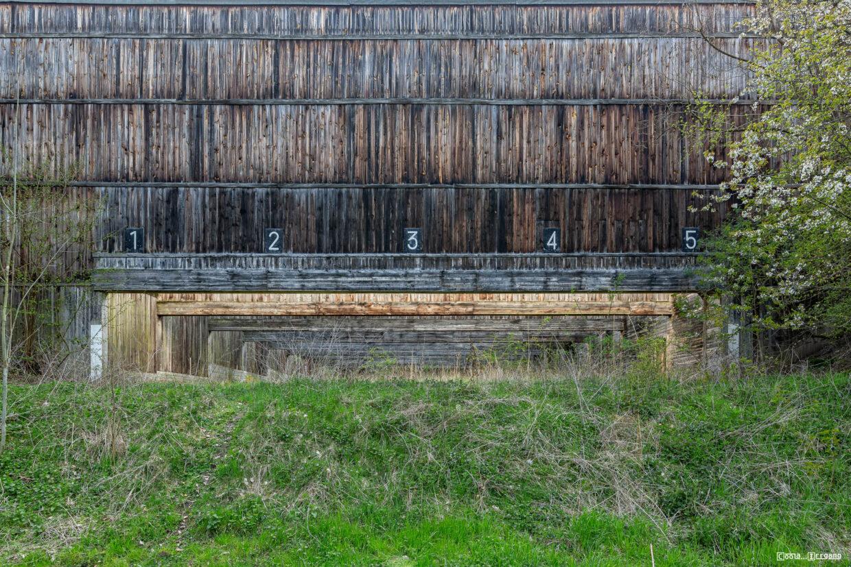 Schießbahnen auf einem ehemaligen Standortübungsplatz